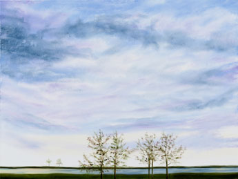Autumn Sky II painting