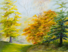 Autumn Trees II painting