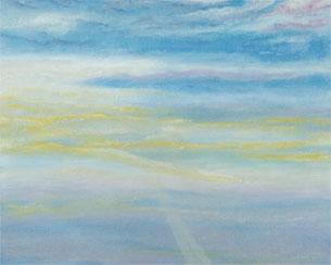 Shimmering Skies II painting