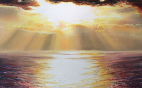 Sunset and the Sea II painting
