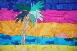 Joni Rose art classes - Palm Tree and Sunset