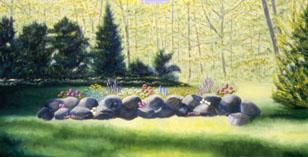 Spring Shadows painting