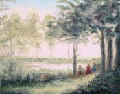 Summer Children I painting