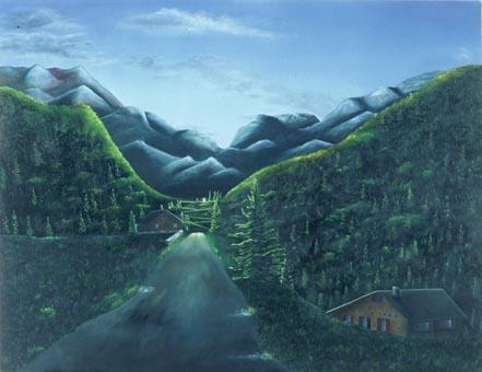 Switzerland painting