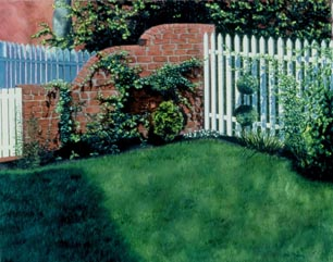 The Backyard painting
