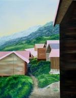 Yesterday's Village III painting