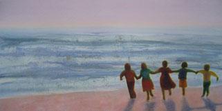 Children on the Beach - print