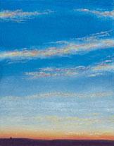 Shimmering Skies III - painting