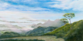 Above the Clouds - painting
