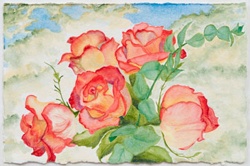 Ani's Roses - painting