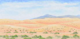 On the Road to Santa Fe - painting