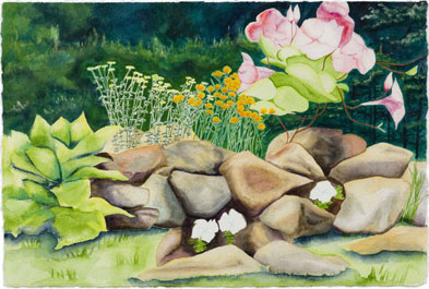 Rock Garden II - painting