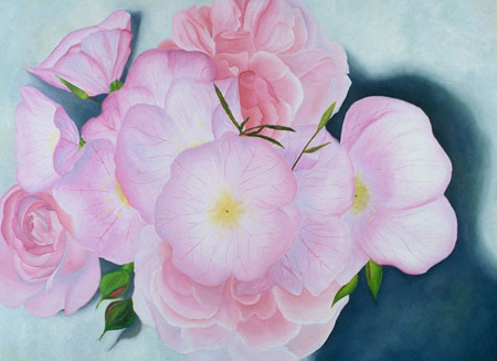 Roses and Primroses - painting